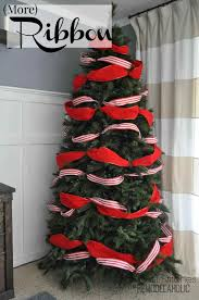 luxury trend christmas tree decorations with ribbons decoration