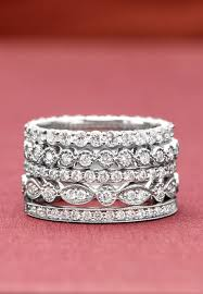 stackable wedding bands 19 gorgeous stacked wedding rings