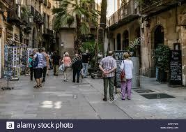 street in el born barcelona spain stock photo royalty free