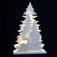 new white light up decoration reindeer trees