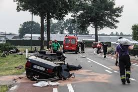audi s8 crash in netherlands splits car in half driver survives