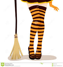 costume witch shoes witch legs broom stock vector image 45042435
