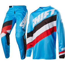 mx motocross gear shift 2017 new mx whit3 label tarmac jersey pants bmx blue