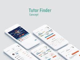 free finder app tutor finder app design free psd freebie supply