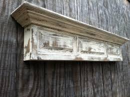 distressed wall shelf raised panel fireplace mantel shelf