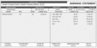 pay statement template download a free pay stub template for