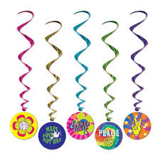 party items 1960s theme decorations party supplies 1960s whirl decorations