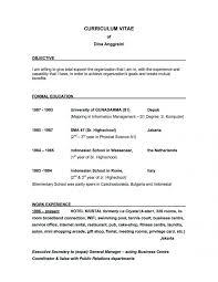 Teachers Resume Sample Objectives by 3 Basic Resume Examples For Objective Sample Of Objectives On A