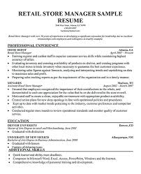 retail manager resume retail management resume template sle resume for manager