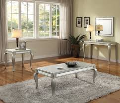 francesca 3pc coffee end tables set 83080 in champagne by acme