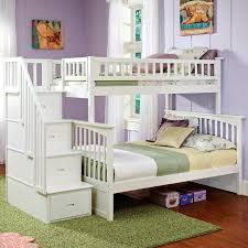 Staircase Bunk Bed Uk Minimalist Bunk Bed With Storage Stairs Uk Inside White Beds