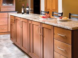 nice shaker style cabinet on this shaker kitchen in cherry wood