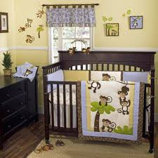 Monkey Bedding Set Bedroom Green Painted Baby Bedroom With Black White And Red