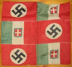 German Flag In Ww2 Italo German Friendship Parade Flag And Italian Post Car