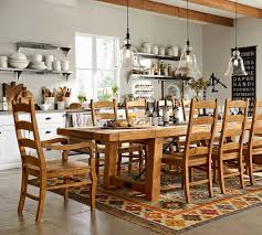 Cortona Extending Dining Table by Dining Room Decor Fabric Dining Chairs Pottery Barn Calais Chair