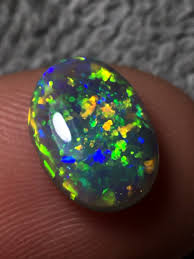 green opal freeform lightening ridge semi black opal natural opals