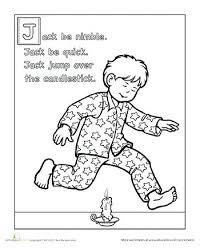 preschool coloring pages nursery rhymes best nursery rhymes images on day care preschool jack be nimble