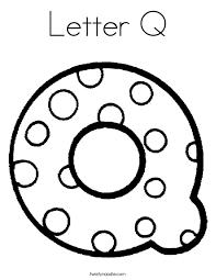 Letter Q Coloring Pages Twisty Noodle Coloring Pages Q