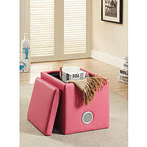 pink storage ottomans sears