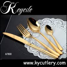 rose gold flatware cutlery set stainless steel gold cutlery