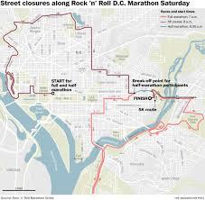 Waze Map Rock U0027n U0027 Roll Marathon Will Roil D C Traffic Saturday The