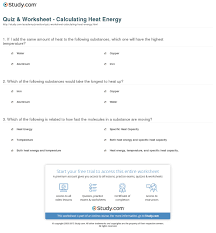 specific heat calculations worksheet worksheets