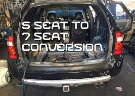 nissan rogue boot space 5 seat to 7 seater territory conversion youtube