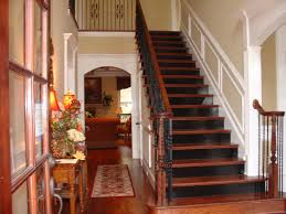 Stairs Hallway Ideas by Foyer With Black Stair Risers Homes I Built Pinterest Black