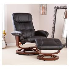 Black Leather Accent Chair Furniture Comfy Oversized Chair Leather Chair And Ottoman