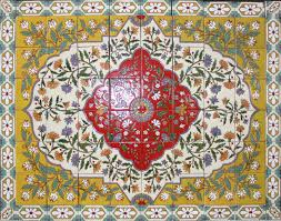 Mexican Style Home Decor Floral Mexican Tile Rug Malibu Style Mexican Home Decor Gallery