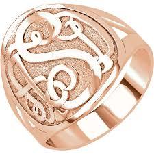 monogram ring 3 letter script monogram ring