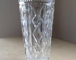Vintage Waterford Crystal Signed 8 Inch Flower Vase In Irish Crystal Vase Etsy