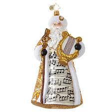 christopher radko song of nick musical santa claus harp ornament