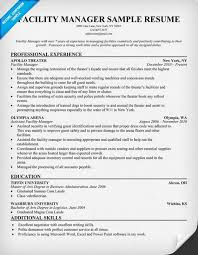 Facility Manager Job Description Resume by Facility Manager Resume Resumecompanion Com Resume Samples