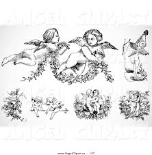 royalty free black and white stock angel designs page 2