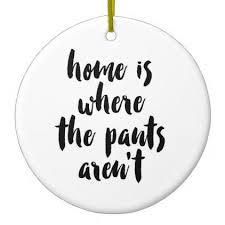 home is where the arent black white quote ceramic ornament