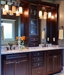 double sink vanity with middle tower spacious double bathroom vanity ideas on vanities and cabinets