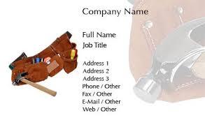 business card templates handyman