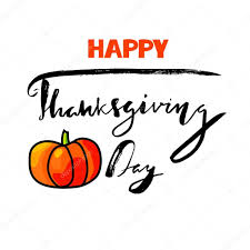 happy thanksgiving day lettering handwritten vector calligraphy