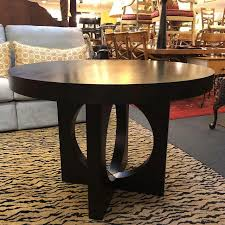 west elm round dining table west elm cutout base round dining table chairish