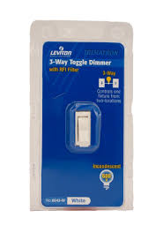 leviton 6643 w 600w incandescent toggle dimmer 3 way white