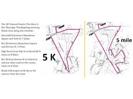 annual feaster five thanksgiving day road race information