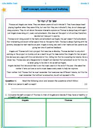 grade 5 life skills test 1 self concept emotions and bullying