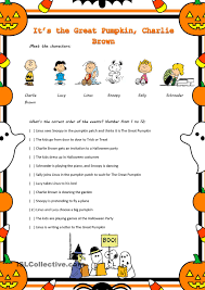its the great pumpkin charlie brown movie worksheet peanuts
