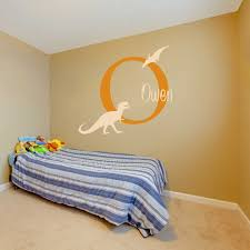 aliexpress com buy boys name wall decal personalized dinosaur aliexpress com buy boys name wall decal personalized dinosaur wall stickers custom name baby nursery wall decals home decors 659c from reliable home decor