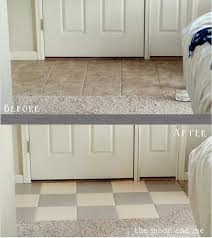 How To Clean Painted Bathroom Walls You Can Actually Paint Any Ugly Tile Floors You U0027re Not Crazy About