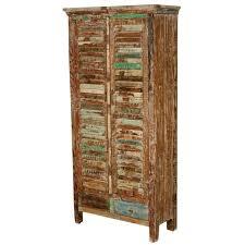 Wooden Armoire Wardrobe Shutter Door Reclaimed Wood Armoire Wardrobe Cabinet