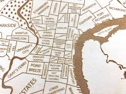 Map Of New Orleans Neighborhoods by Philadelphia Map Laser Engraved Neighborhood Map Philly Map