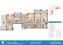 2 master bedroom floor plans floor plan of ansam yas island