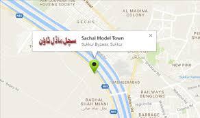 sukkur map sachal model town sukkur location map